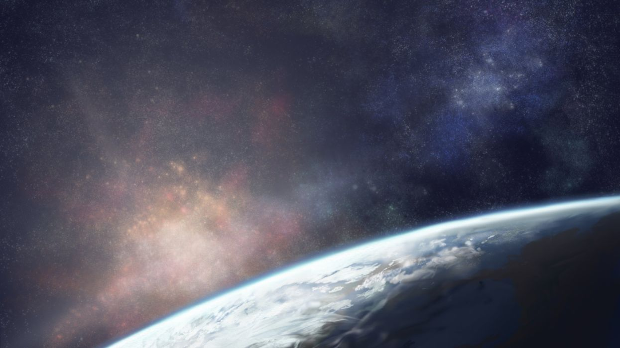 space planet earth stars wallpaper