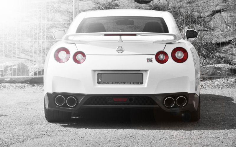 Nissan gtr r35 car white back wallpaper