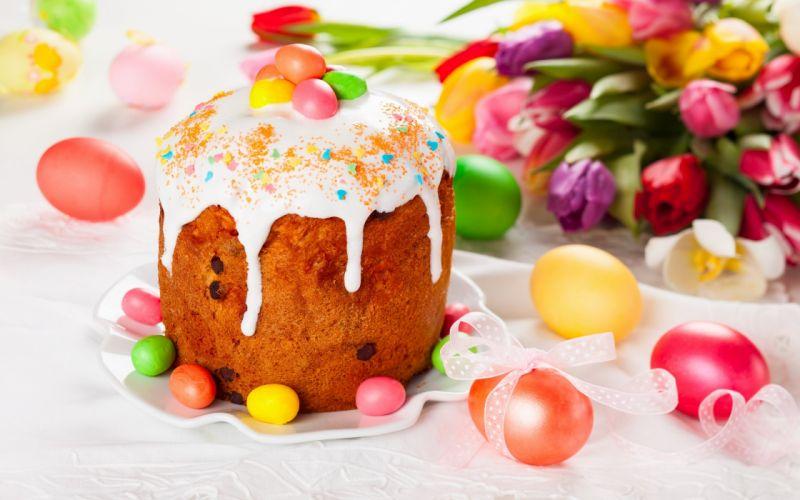 cake sweet coloers eggs easter wallpaper