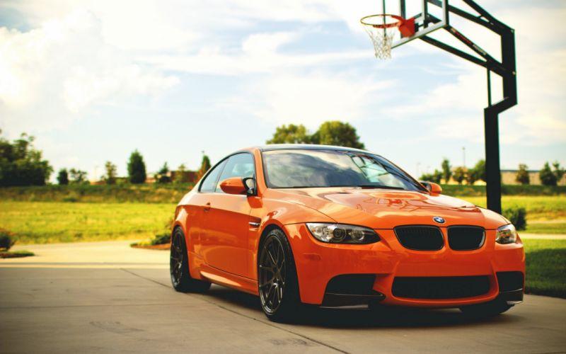 bmw car orange tuning wallpaper