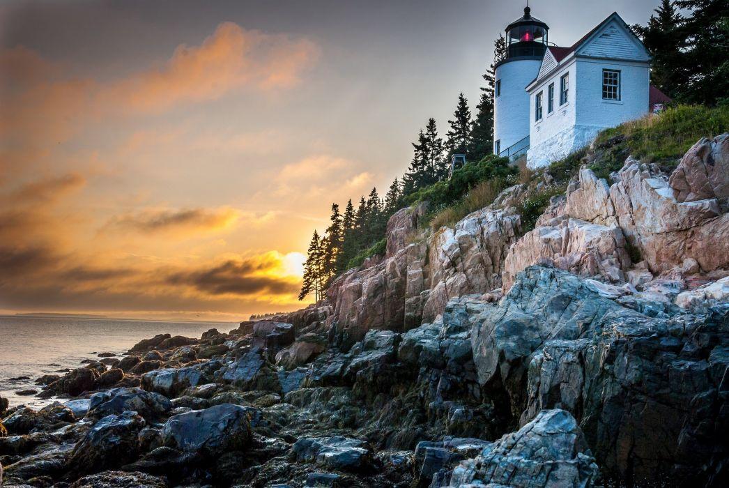 Coast ocean Lighthouse nature phares semaphore wallpapers wallpaper