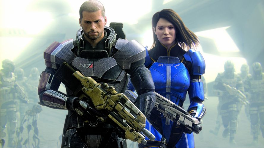 mass effect 3-shepard wallpaper
