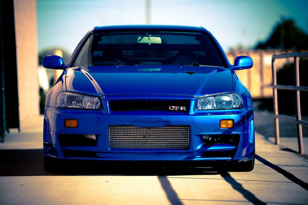 Nissan Skyline Gtr R34 Car Blue Tuning Wallpaper 1920x1280
