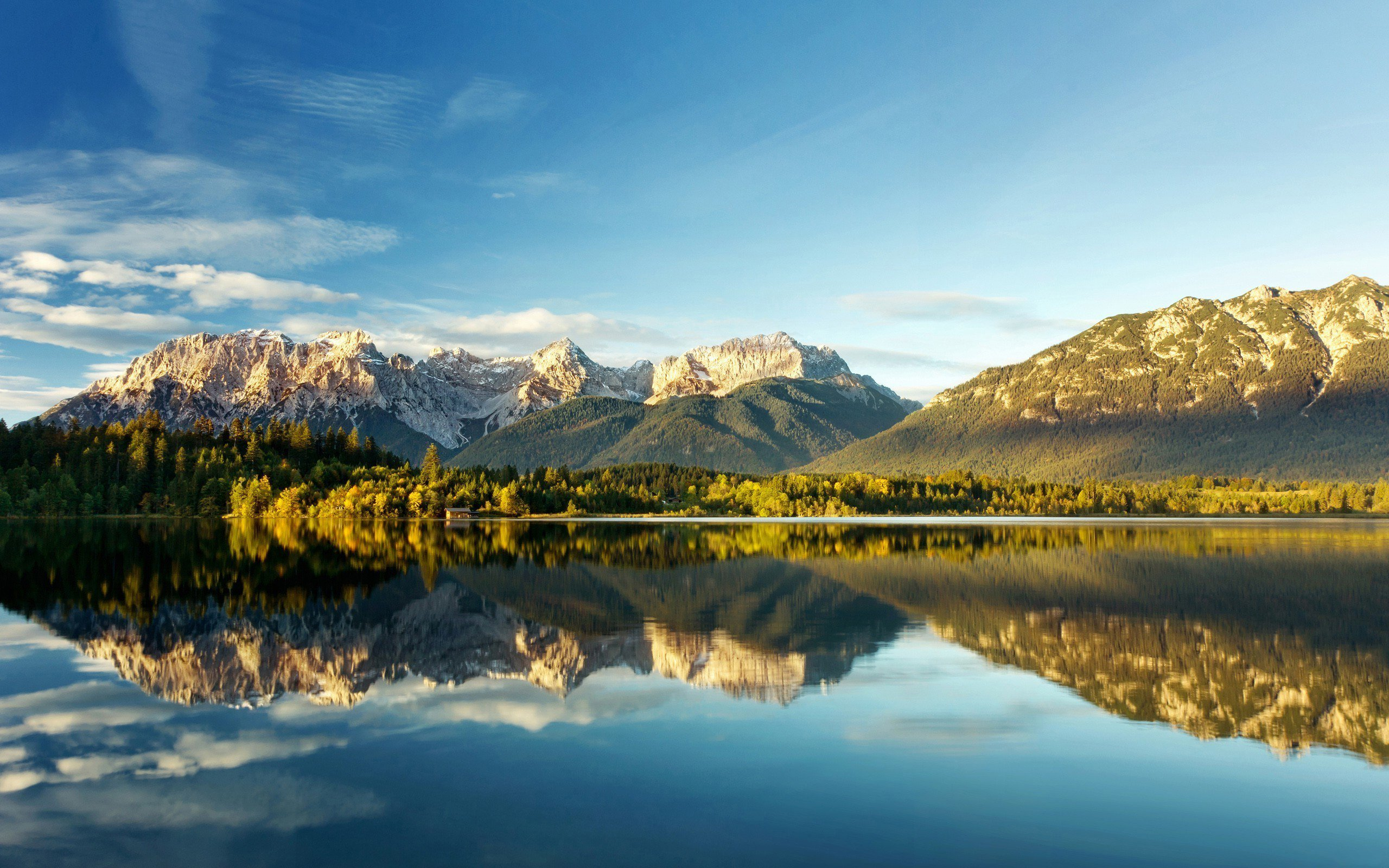 Sky blue clouds nature green lake wallpaper 2560x1600 - Nature wallpaper 2560x1600 ...