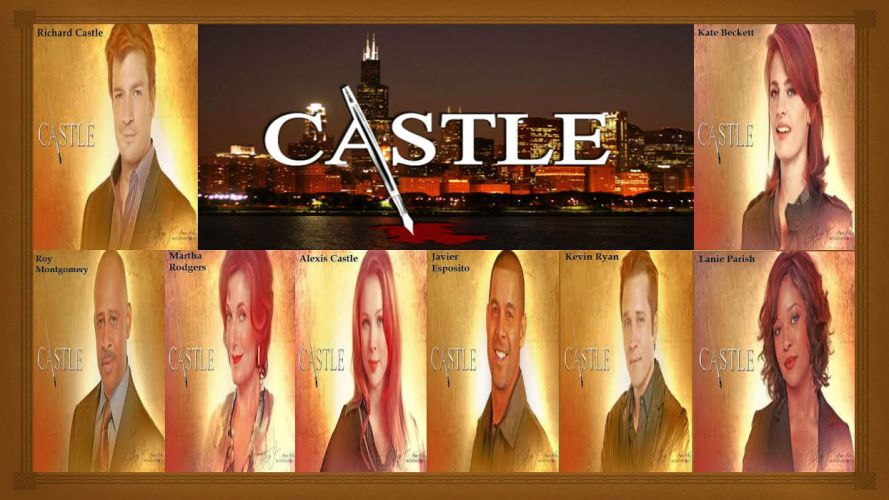 CASTLE crime drama series comedy wallpaper