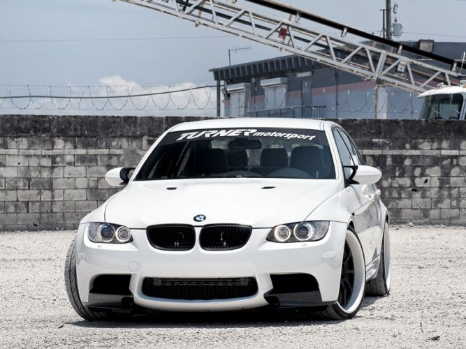 bmw car tuning white wallpaper