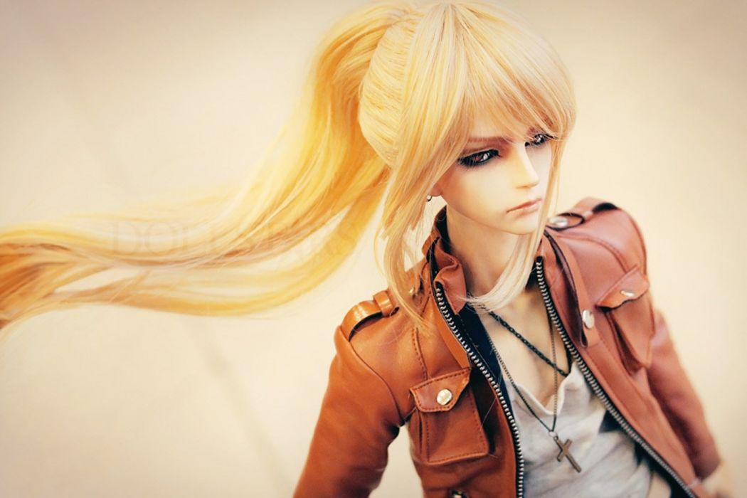 blond doll long hair toys wallpaper