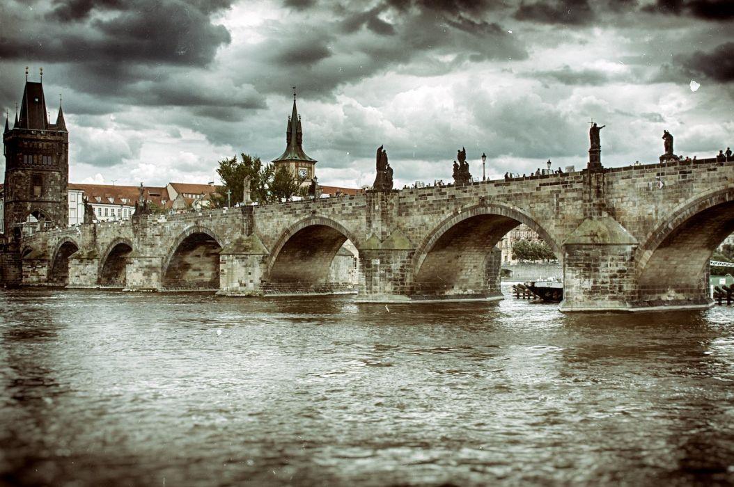 bridge rivers nature Water architecture rock iron landscapes city wallpaper wallpaper
