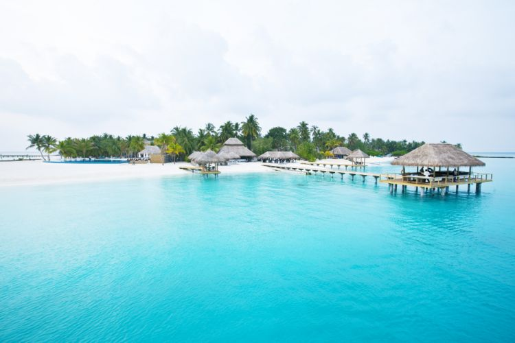 beach paradise sea blue pier island wallpaper