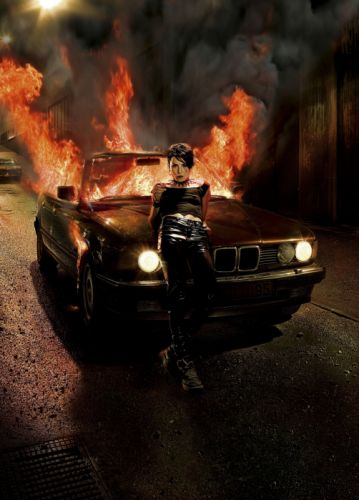 bmw girl fire beauty lady gothic wallpaper