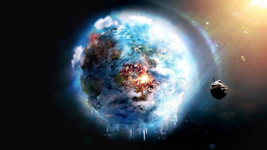planet earth future apoclypse fantasy space wallpaper