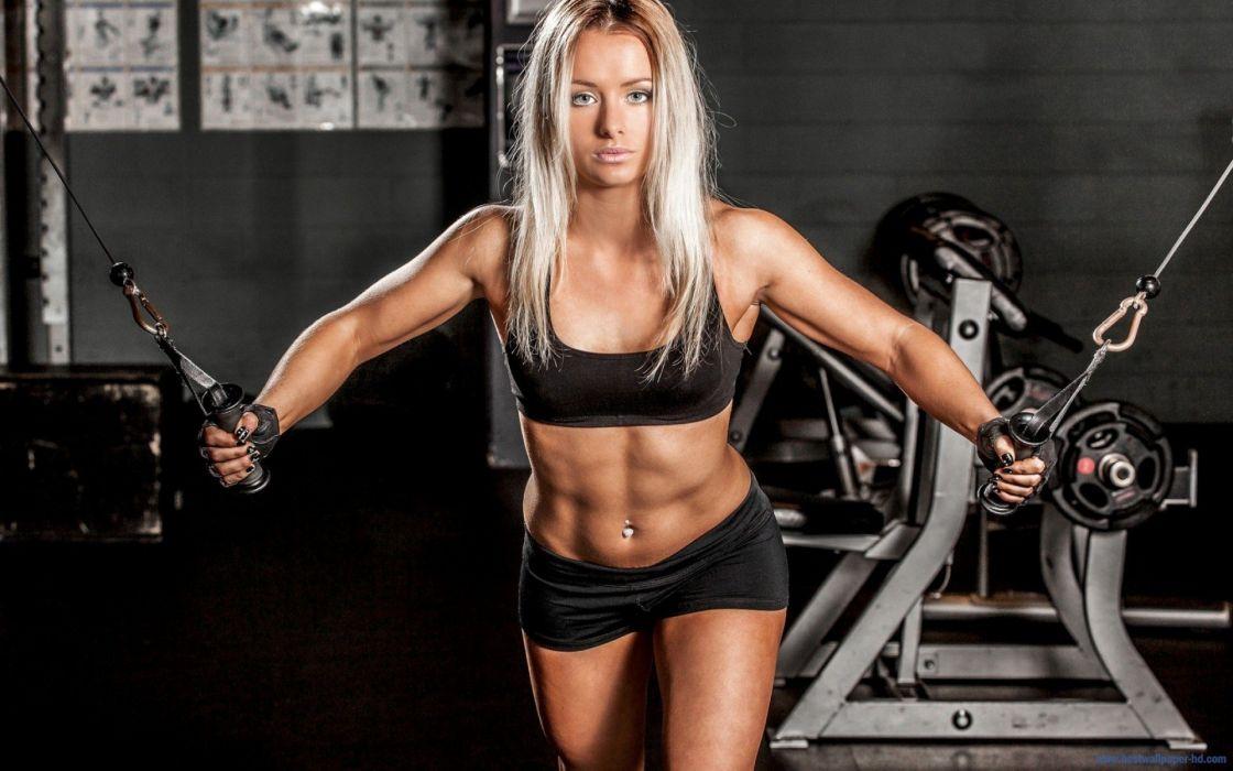 FITNESS-sports-girl-blonde wallpaper