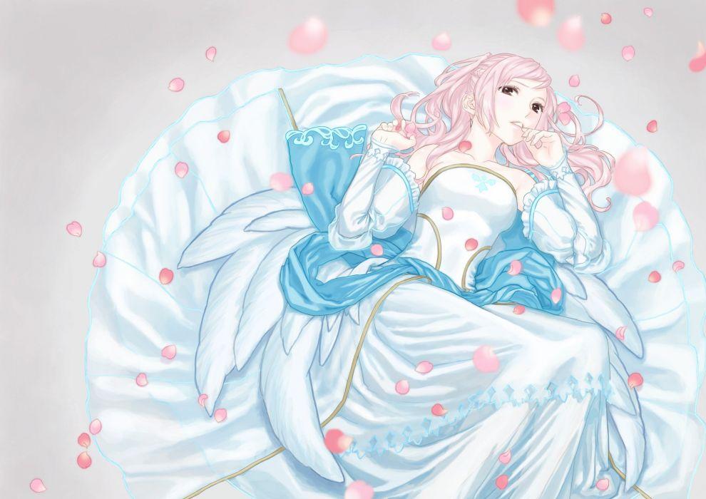 flower winter pink girl wallpaper