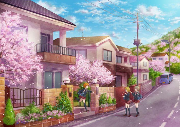 sakura girls school anime wallpaper
