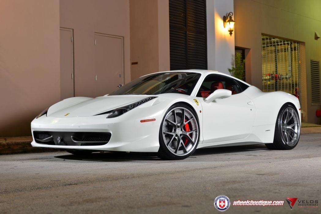 Ferrari 458 White wallpaper