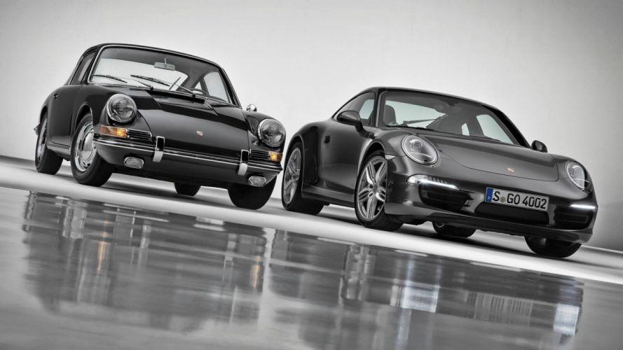 Porsche 911 Carrera 4S 2013-and-Porsche 911 1964 wallpaper
