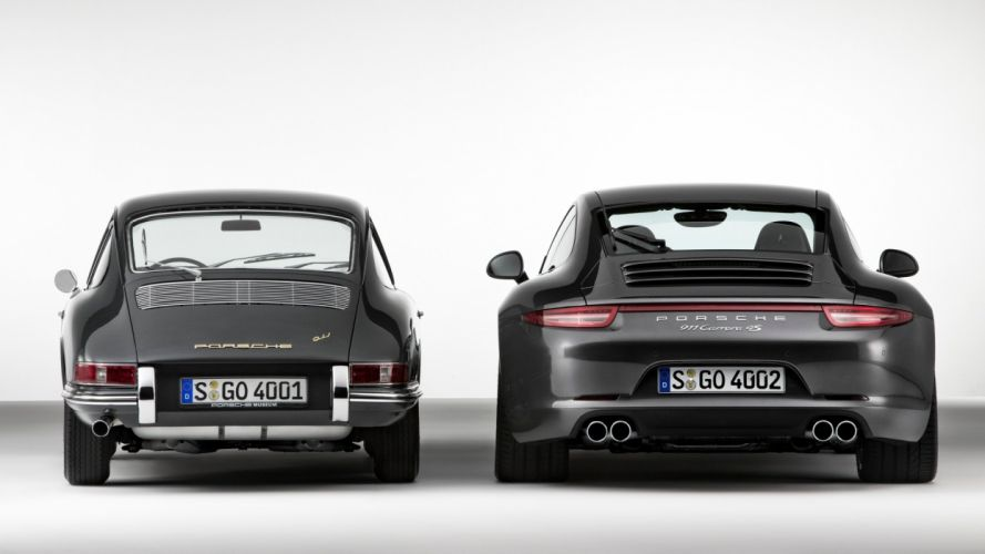 Porsche 911 Carrera 4S 2013-and-Porsche 911 1964 wallpaper