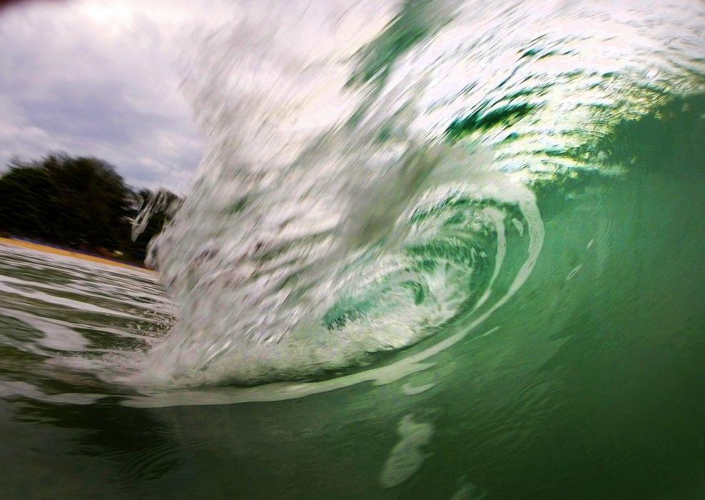 ocean sea water surf nature landscape wallpaper
