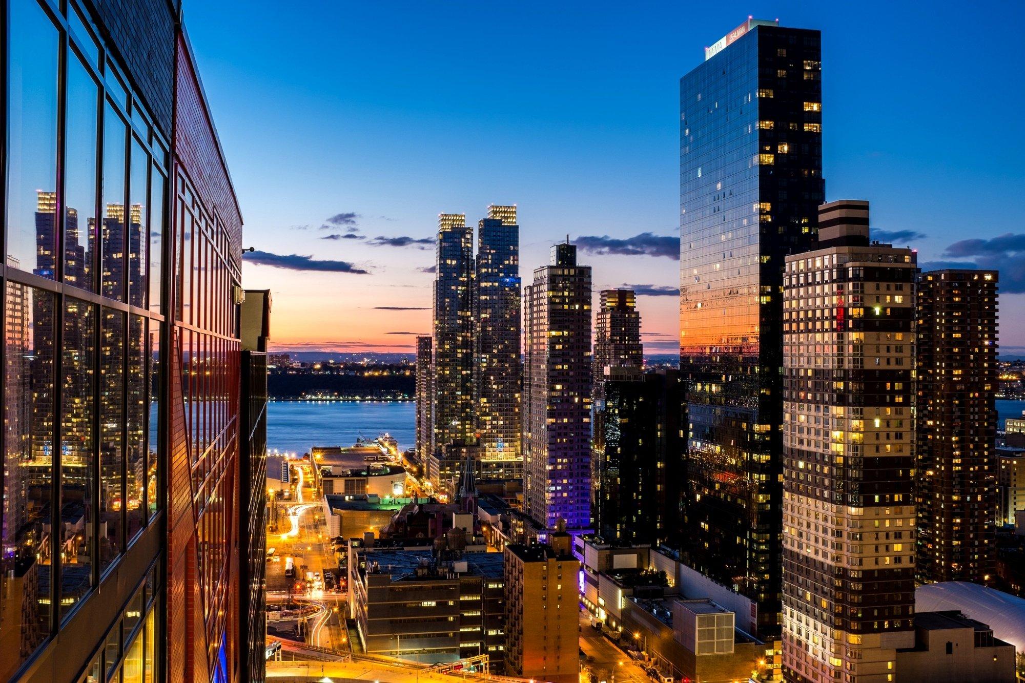 city town night light window look panorama wallpaper 2000x1333