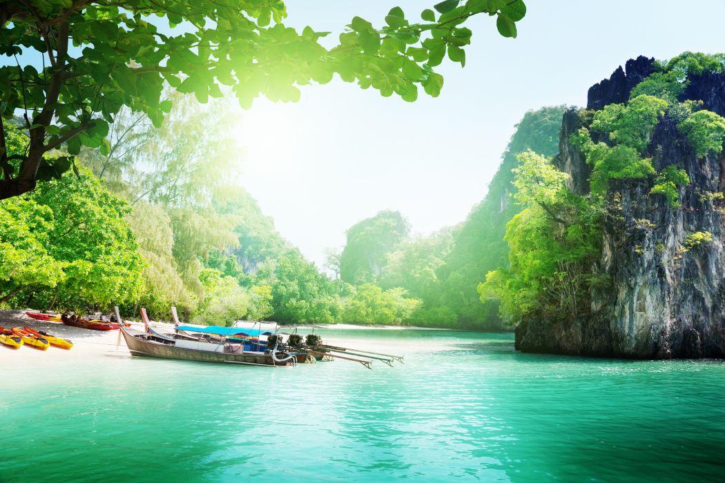 River Blue Island Forest Green Summer Wild Nature Wallpaper 6000x4000 445492 Wallpaperup