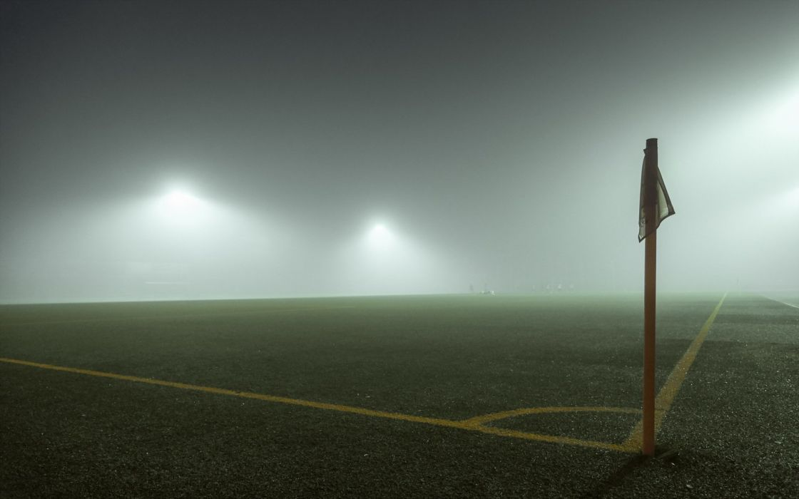 corner football sport stadion fog light wallpaper