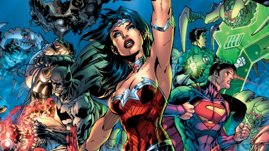 New 52 Trinity Superman Batman Wonder Woman wallpaper