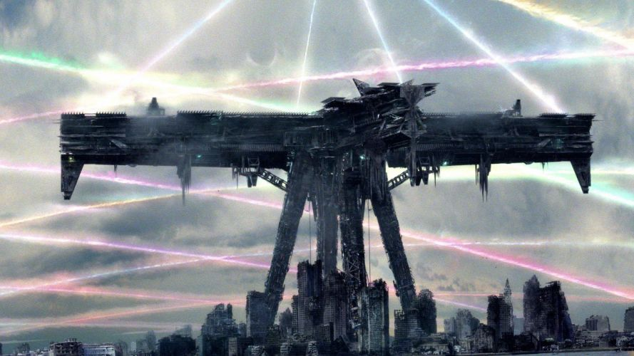 FALLING SKIES action series sci-fi thriller apocalyptic alien spaceship wallpaper