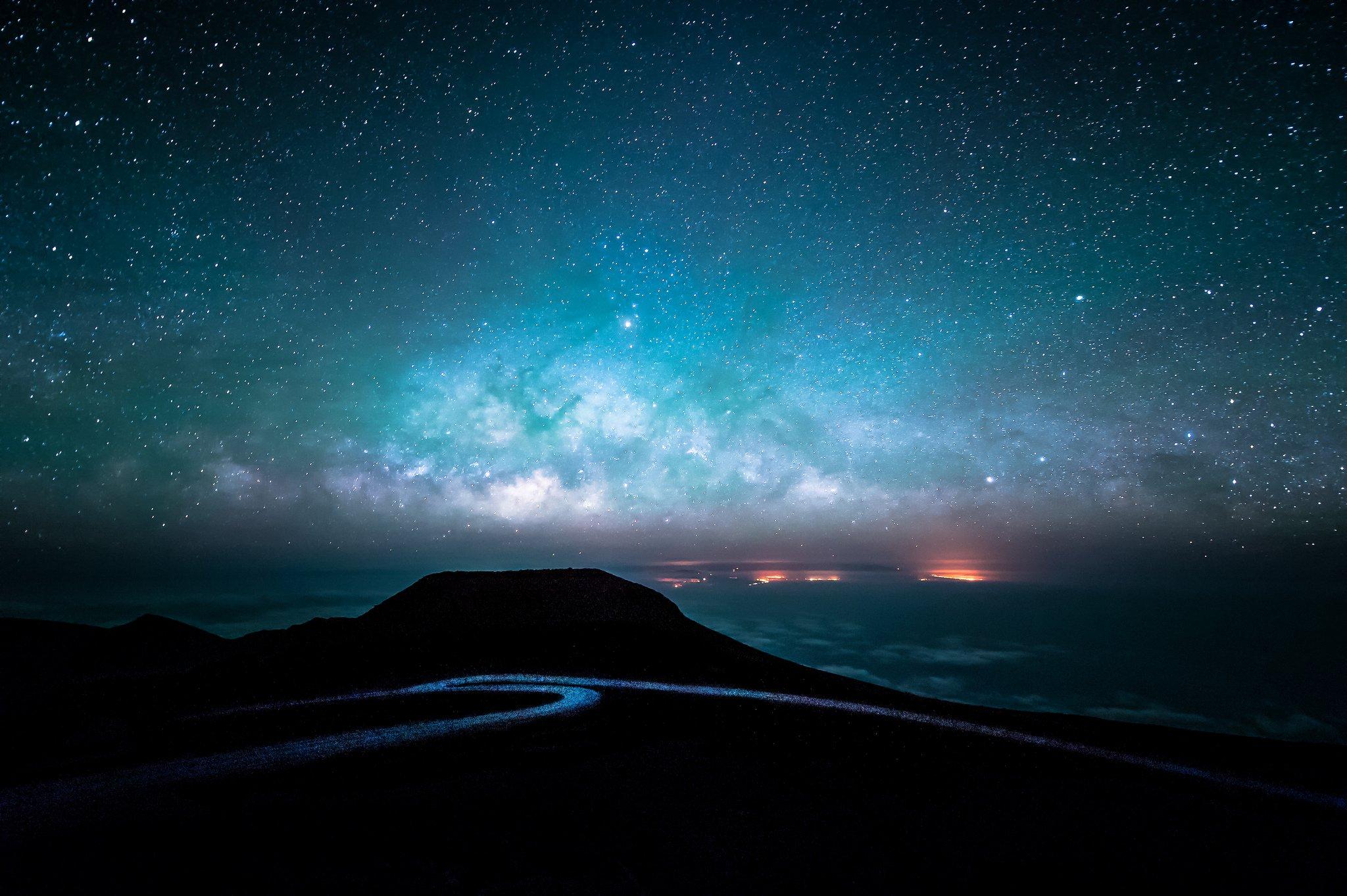 denser in middle night sky milky way galaxy - photo #23