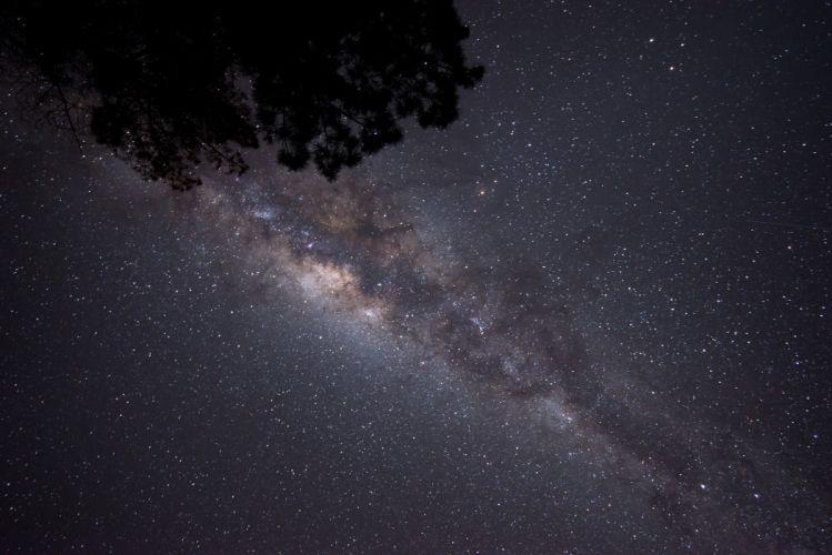 galaxy Milky Night rock sky space stars wallpaper wallpaper