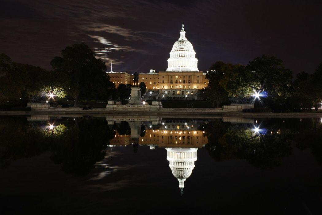 buildings monuments reflection states United USA washington wallpaper