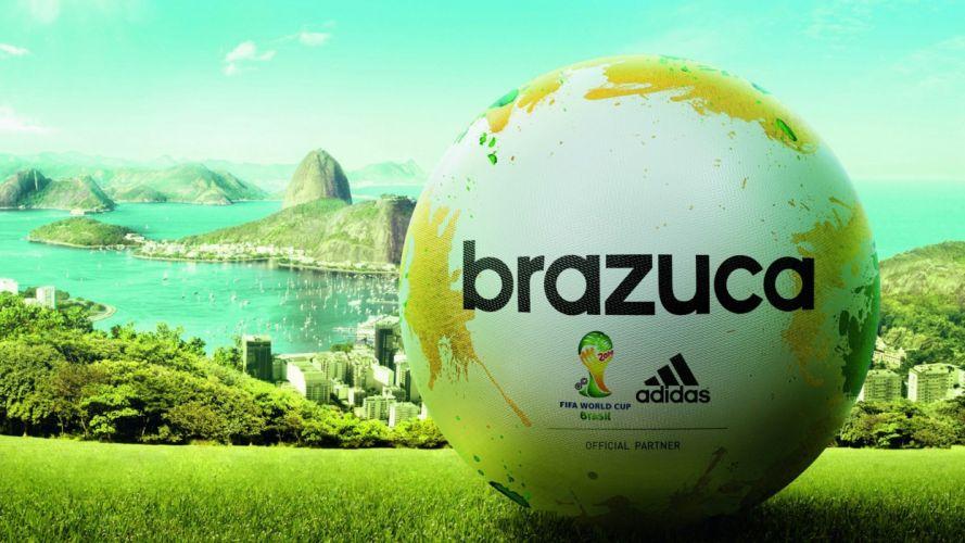 BRAZUCA - world-cup 2014-soccer-match ball adidas fifa wallpaper