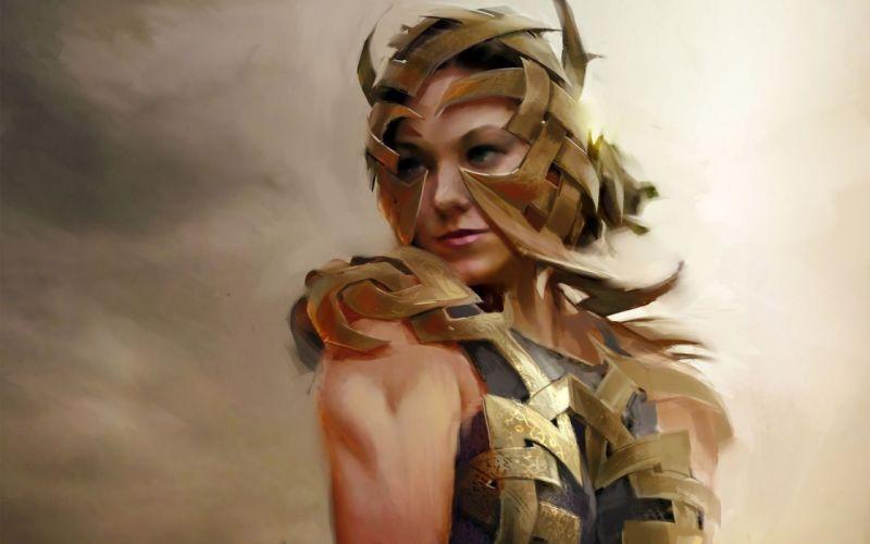 WARRIOR - golden-woman-art wallpaper