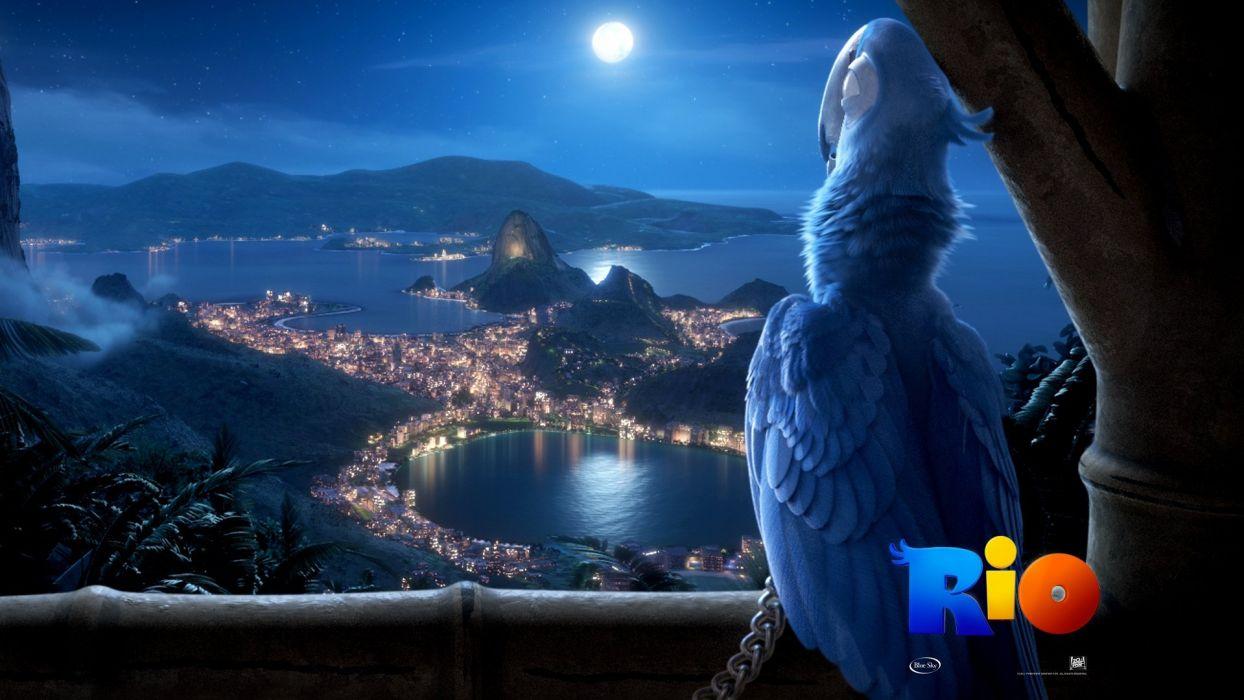 RIO movie-brazil-blue-macaw wallpaper
