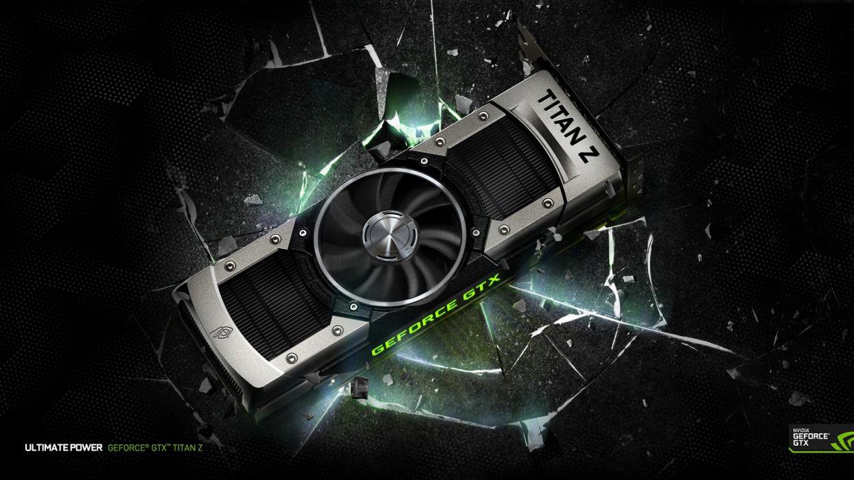 titan nvidia gforce graphic card wallpaper