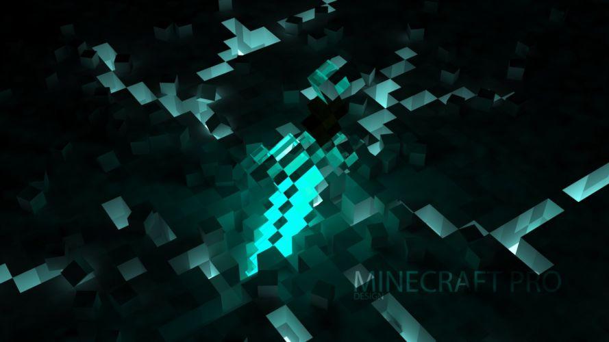 texture minecraft blue game cubes wallpaper