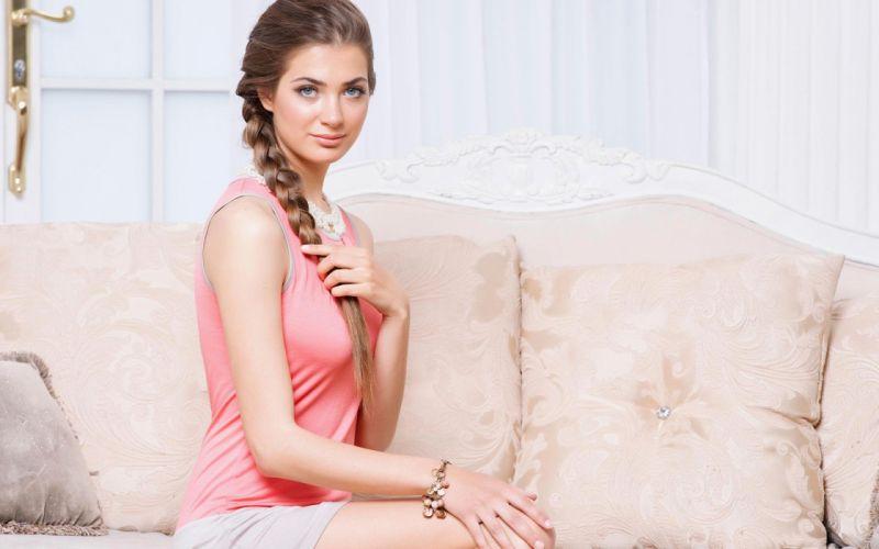 girl beauty model pose sensual wallpaper