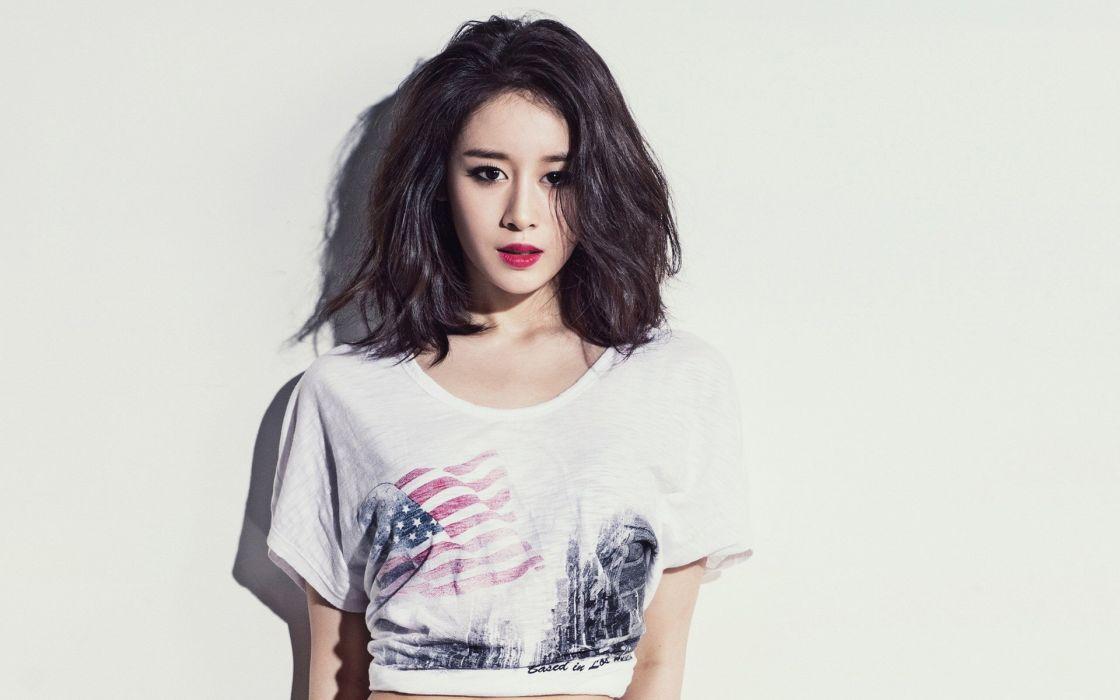 model brunette female asian oriental wallpaper