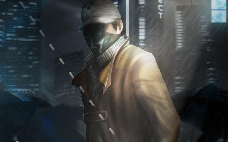 man rain fantasy terorist wallpaper