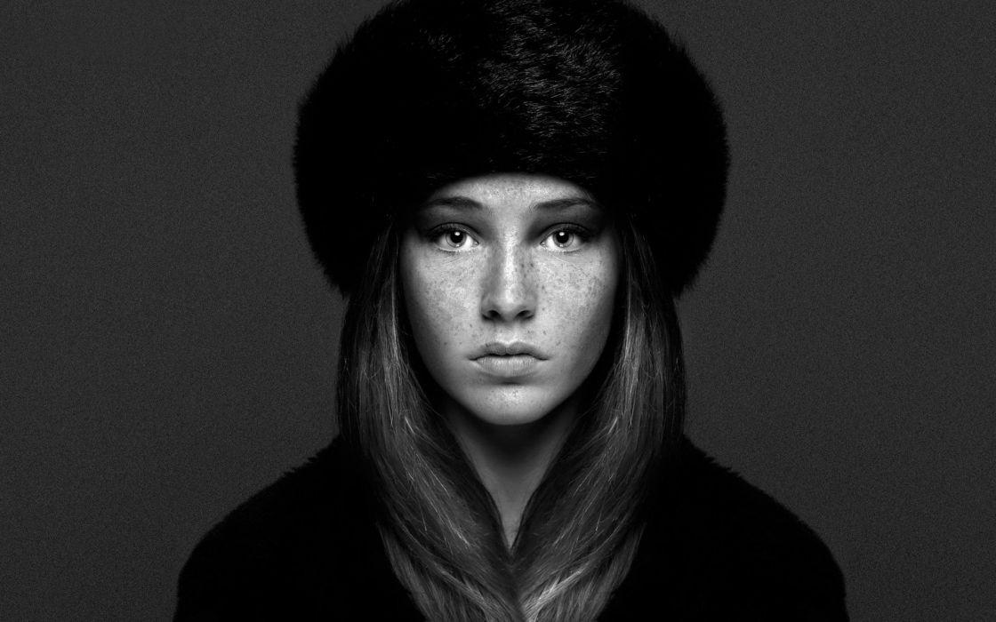 model woman beauty hat wallpaper