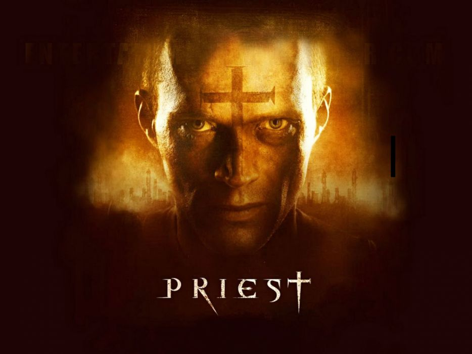 PRIEST action fantasy horror vampire apocalyptic dark wallpaper