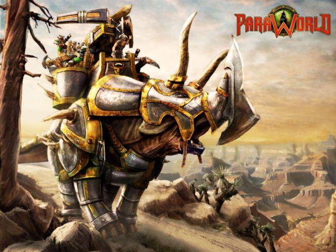 PARAWORLD strategy fantasy prehistoric dinosaur adventure wallpaper