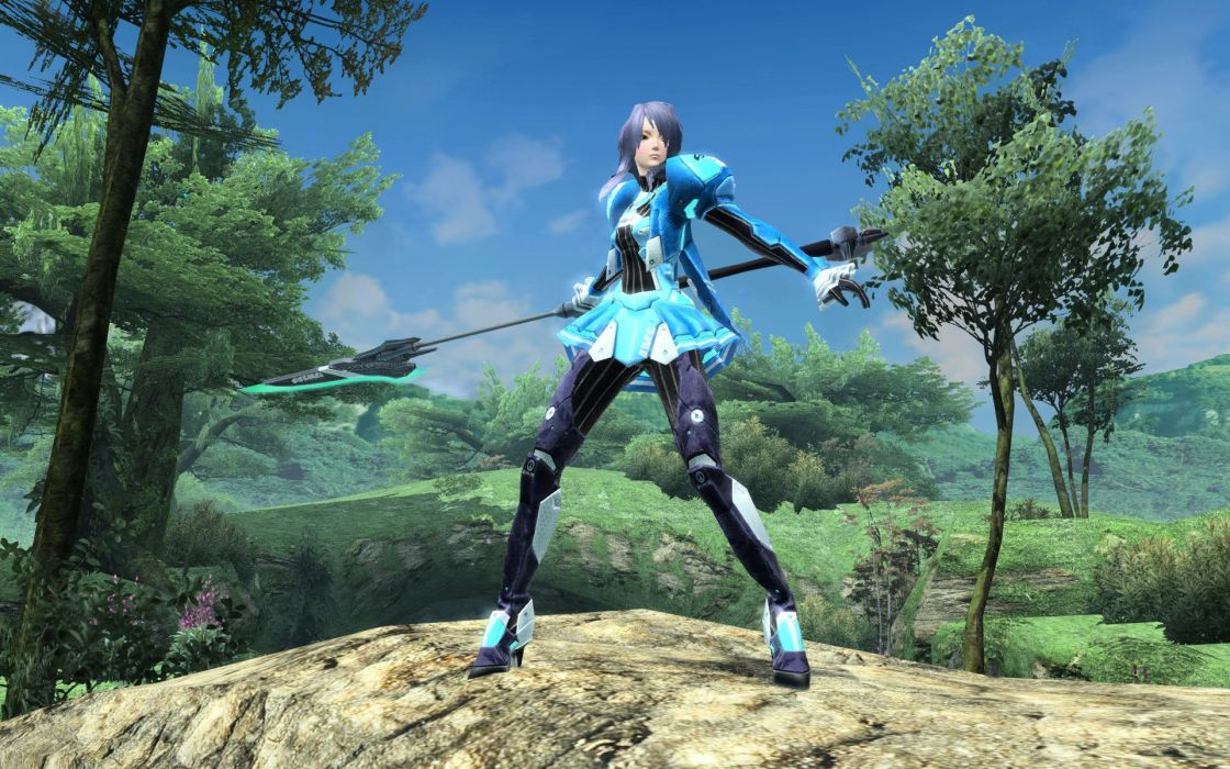 PHANTASY STAR fantasy action rpg mmo fighting wallpaper