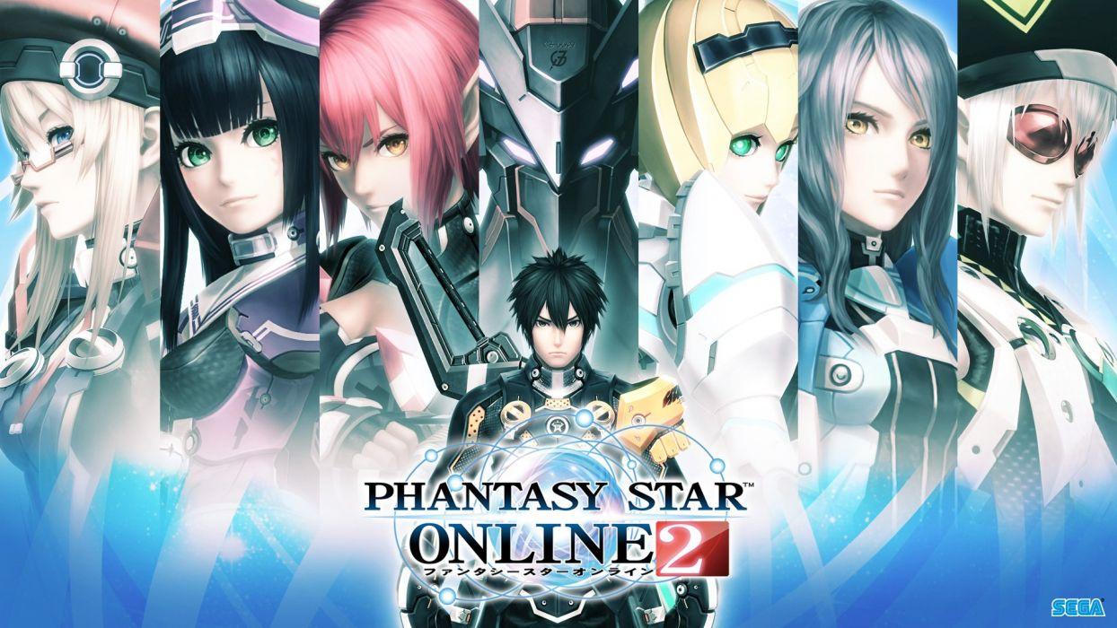 PHANTASY STAR fantasy action rpg mmo fighting wallpaper
