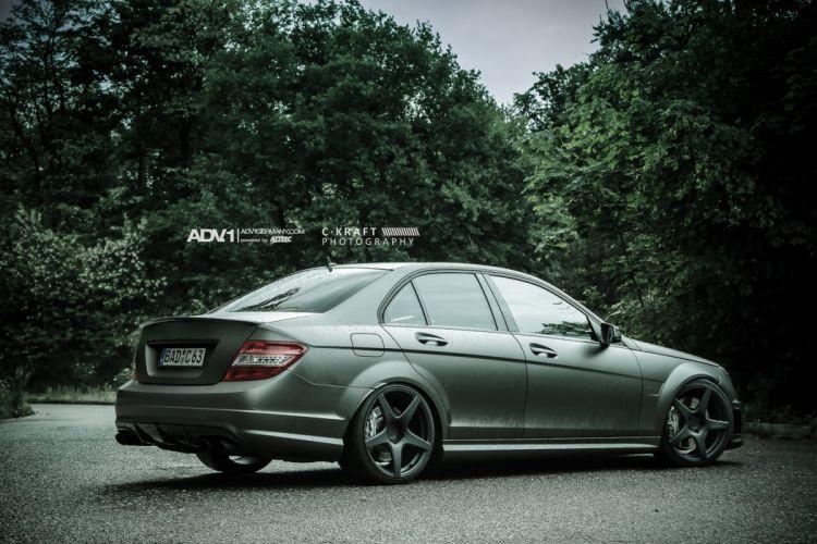 2014 MERCEDES C63 AMG adv1 wheels tuning wallpaper