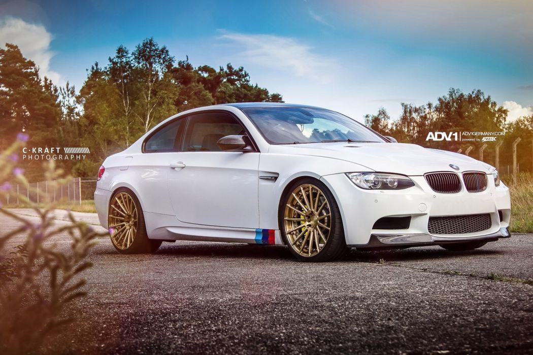 2014 BMW M3-e92 AMG adv1 wheels tuning wallpaper