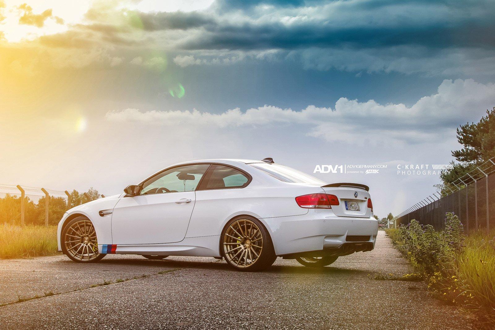 2014 BMW M3 E92 AMG Adv1 Wheels Tuning Wallpaper
