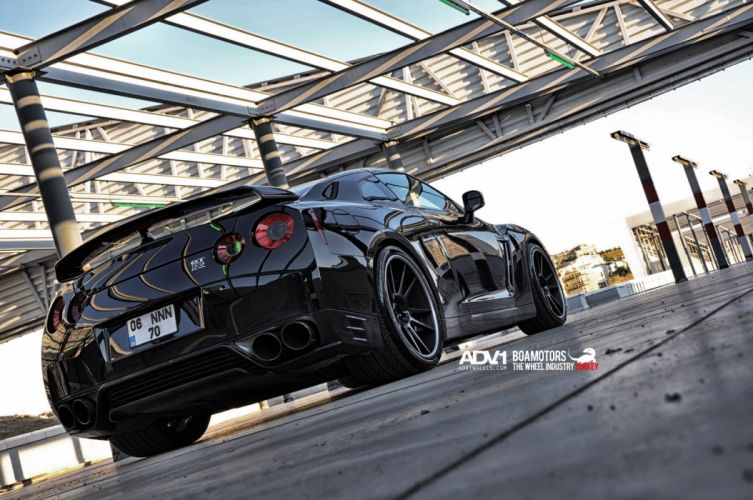2014 nissan gtr adv1 wheels tuning wallpaper
