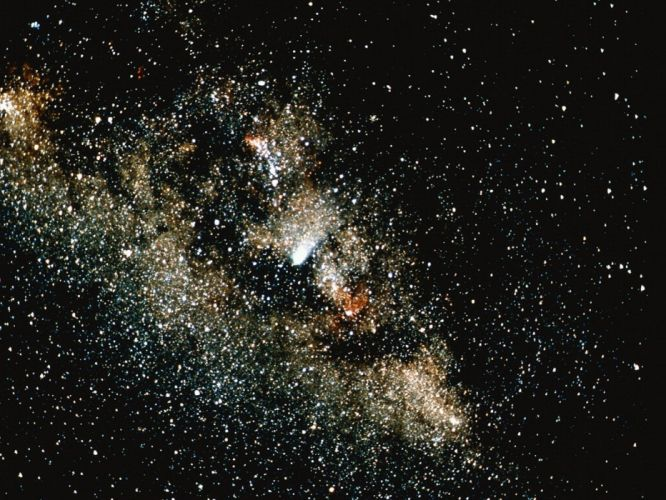 space galaxy planets stars universe colors wallpaper