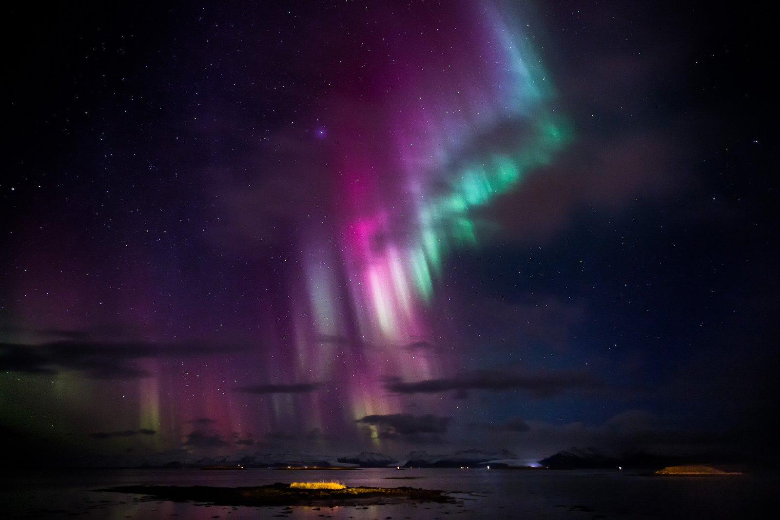Alaska Artic Aurora Boreale Borealis Landscape Lights Nature Northern Outdoors Sky