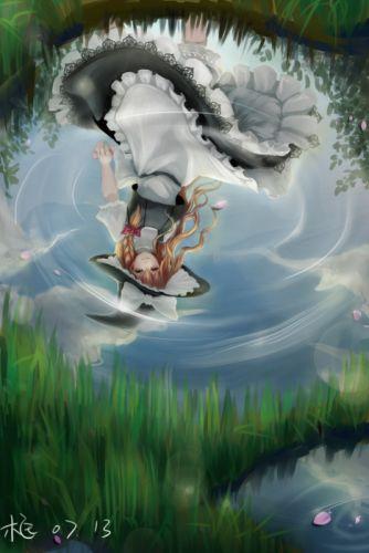 character touhou water girl anime wallpaper